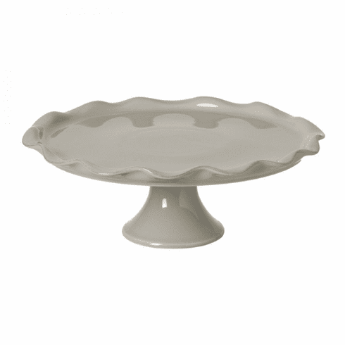 Casafina Large Footed Cake Plate Gray