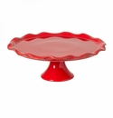 Casafina Large Footed Cake Plate Red