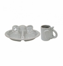 Casafina Les Enfants Plate Mug Set Alligator White