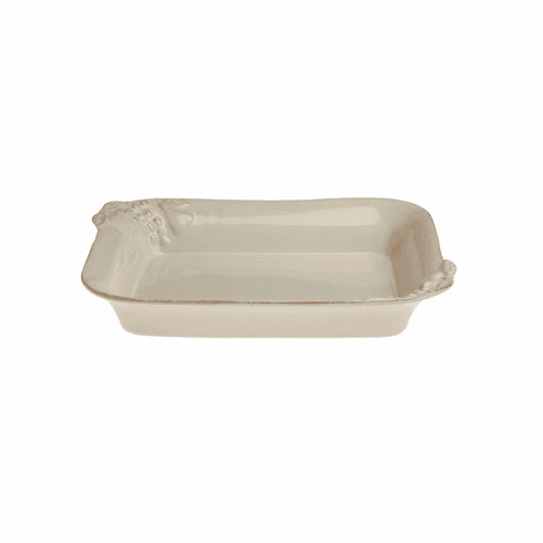 Casafina Madeira Cream Medium Rectangular Baker