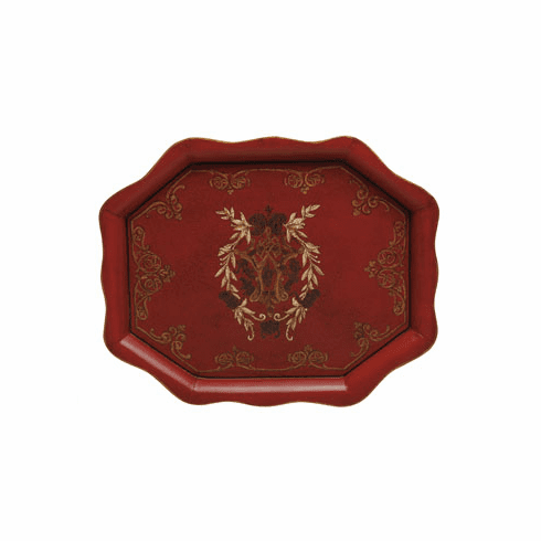 Casafina Palacio Scalloped Tole Tray