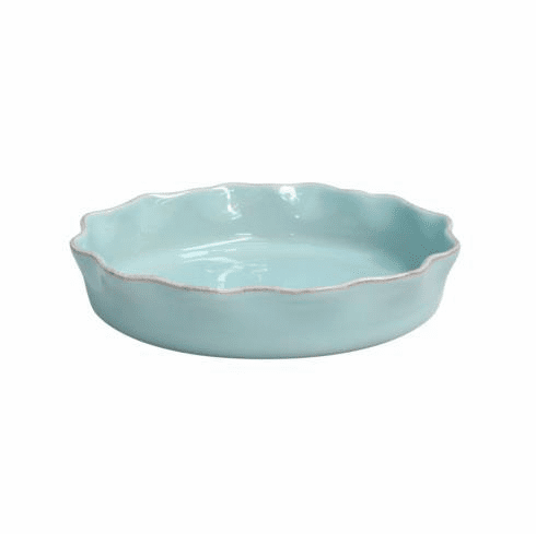 Casafina Ruffled Pie Dish Robin's Egg Blue