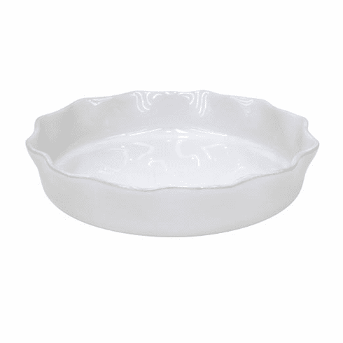 Casafina Ruffled Pie Dish White