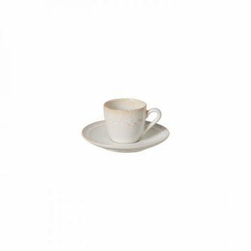 Casafina Taormina White Coffee Cup & Saucer (6)