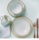 Casafina Taormina White/Gold 5 Piece Place Setting