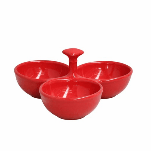 Casafina Three Section Server Red