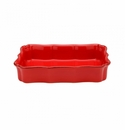 Casafina Vintage Port Red Large Rectangular Baker
