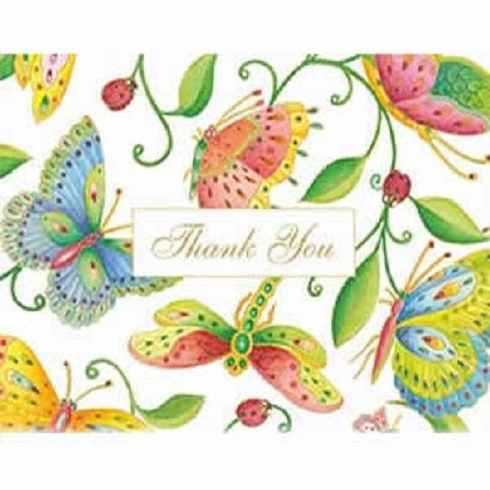 Caspari ParvanehS Garden Thank You Notes 8 In Box