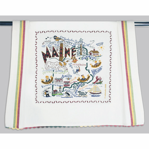 Cat Studio State Dish Towel - Maine