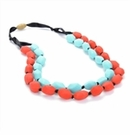 Chewbeads Astor Necklace - Turq/Cherry