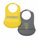 Chewbeads Bib Foodie - Grey/Yellow
