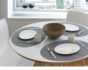 Chilewich Bamboo Oval Table Mat 14X19.25 Fog