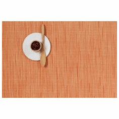 Chilewich Bamboo Rectangle Tangerine Placemat