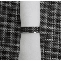 Chilewich Basketweave .5 Napkin Ring - Black/White