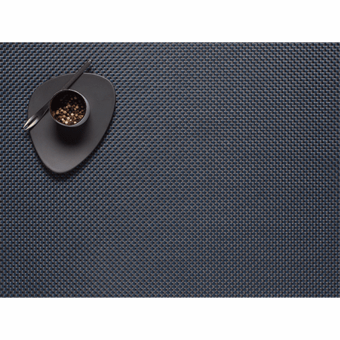 Chilewich Basketweave Placemat 14X19 Navy