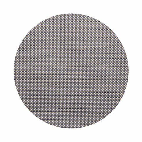 Chilewich Basketweave Table Mat 15 Round - Aluminum