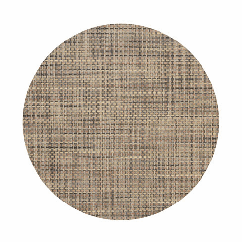 Chilewich Basketweave Table Mat 15 Round - Bark