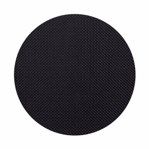 Chilewich Basketweave Table Mat 15 Round - Black