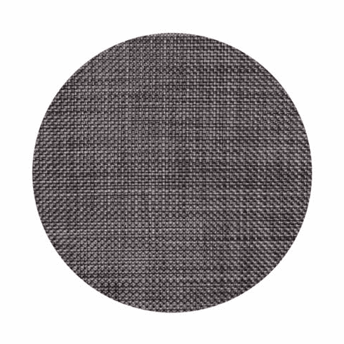 Chilewich Basketweave Table Mat 15 Round - Carbon