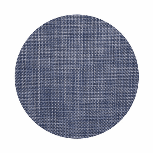 Chilewich Basketweave Table Mat 15 Round - Denim