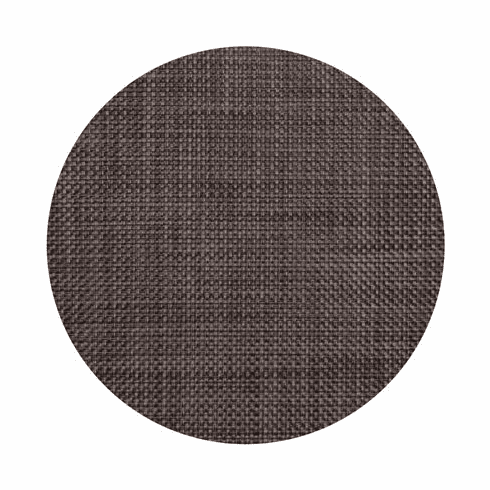 Chilewich Basketweave Table Mat 15 Round - Earth