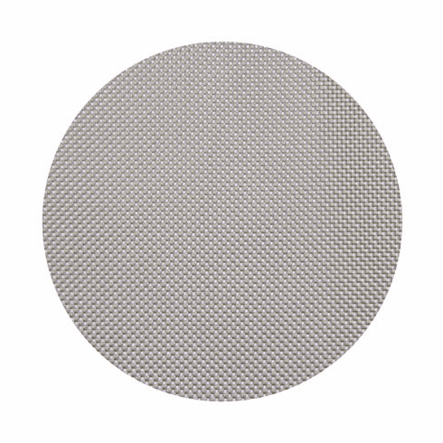 Chilewich Basketweave Table Mat 15 Round - Ice