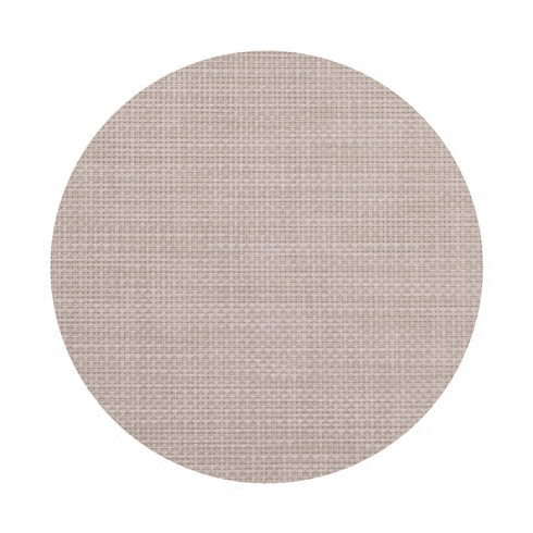 Chilewich Basketweave Table Mat 15 Round - Khaki