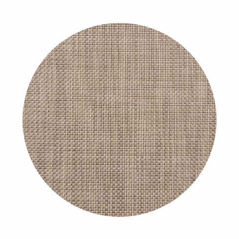 Chilewich Basketweave Table Mat 15 Round - Latte