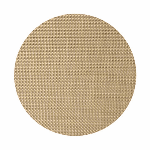 Chilewich Basketweave Table Mat 15 Round - New Gold