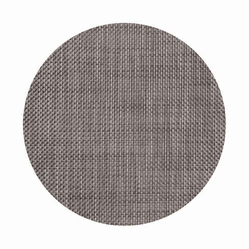 Chilewich Basketweave Table Mat 15 Round - Oyster