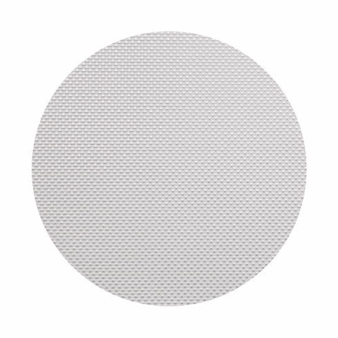 Chilewich Basketweave Table Mat 15 Round - White