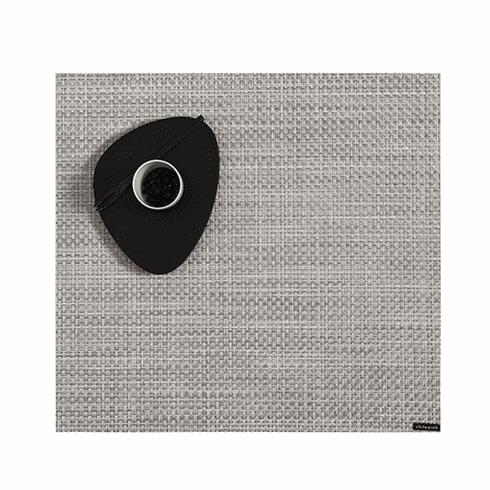 Chilewich Basketweave Table Placemat 13X14 White/Silver