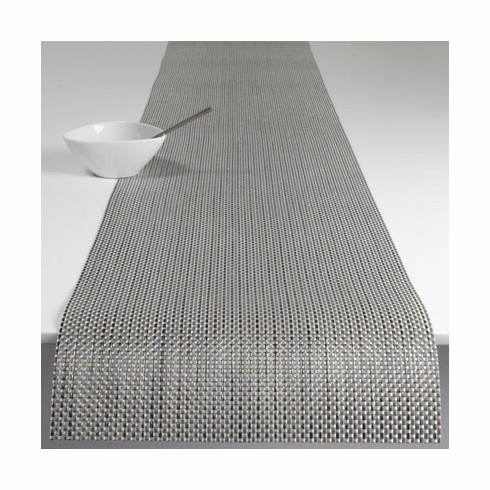 Chilewich Basketweave Table Runner 14x72 - Aluminum