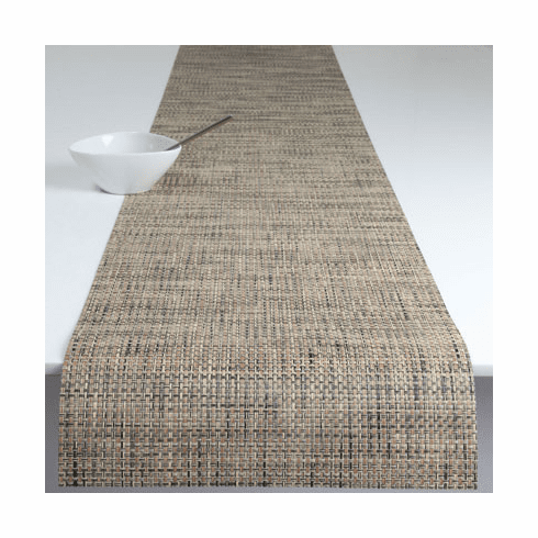 Chilewich Basketweave Table Runner 14x72 - Bark