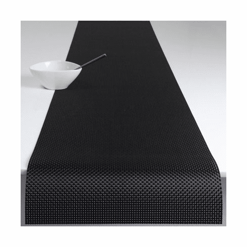 Chilewich Basketweave Table Runner 14x72 - Black