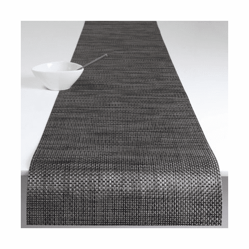 Chilewich Basketweave Table Runner 14x72 - Carbon
