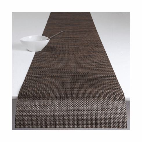 Chilewich Basketweave Table Runner 14x72 - Earth