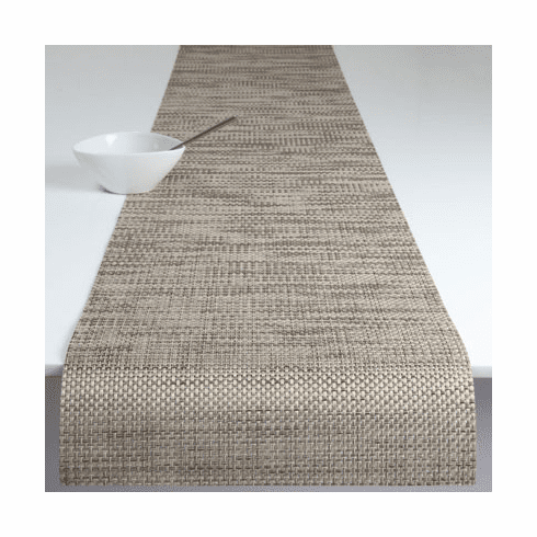 Chilewich Basketweave Table Runner 14x72 - Latte