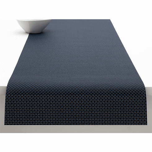 Chilewich Basketweave Table Runner 14X72 Navy