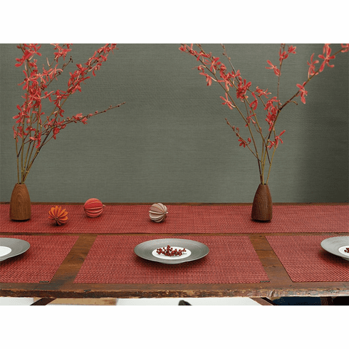 Chilewich Basketweave Table Runner 14X72 Pomegranate