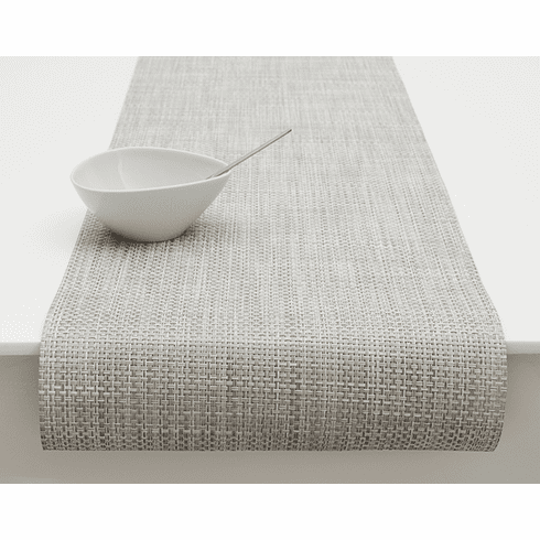 Chilewich Basketweave Table Runner 14X72 White/Silver