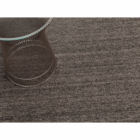 Chilewich Heathered Shag DoorMat 18X28 Black/Tan