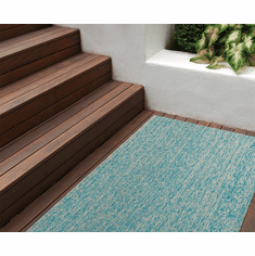Chilewich Heathered Shag Runner 24X72 Aqua