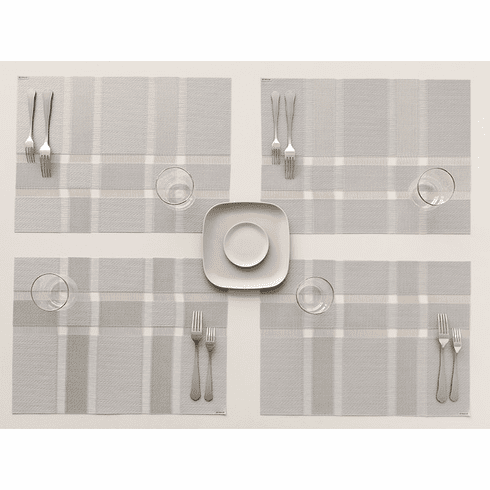 Chilewich Interlace Tablemat 14 X 19 Silver