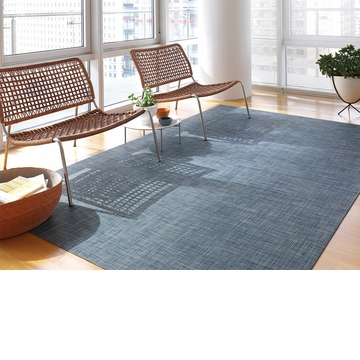 Chilewich Latex Basketweave Floormat 35X48 Denim
