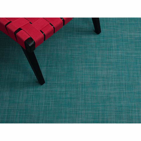 Chilewich Mini Basketweave FloorMat 30X106 Turquoise