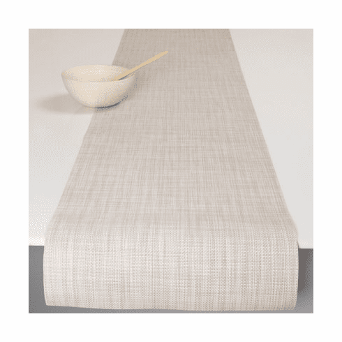 Chilewich Minibasket Table Runner 14x72 Parchment