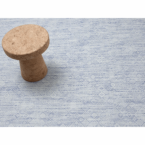 Chilewich Mosaic Floor Mat 72X106 Blue