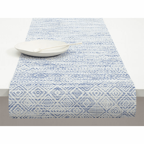 Chilewich Mosaic Table Runner 14X72 Blue