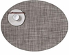 Chilewich Oval Gravel Mini Basketweave Oval Placemat